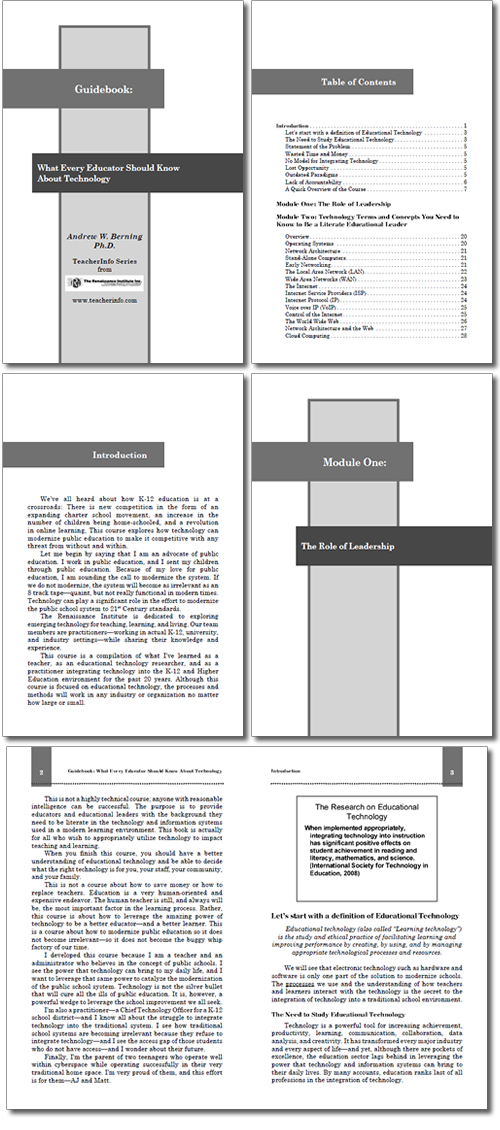 Layout for Technology Guidebook