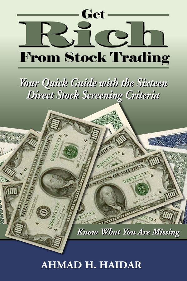Cover design for Get Rich From Stock Trading
