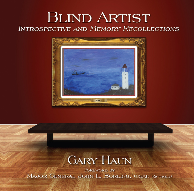 Book cover design for artist Gary Haun