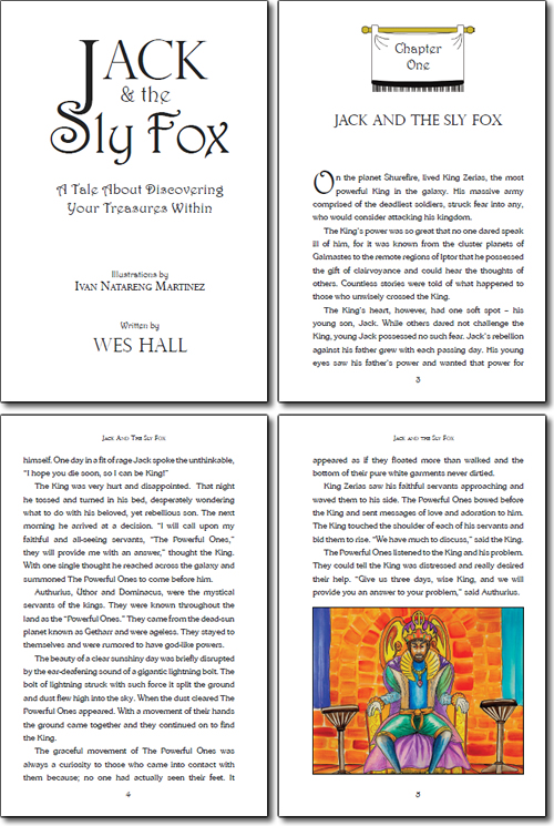Jack and the Sly Fox Layout Design