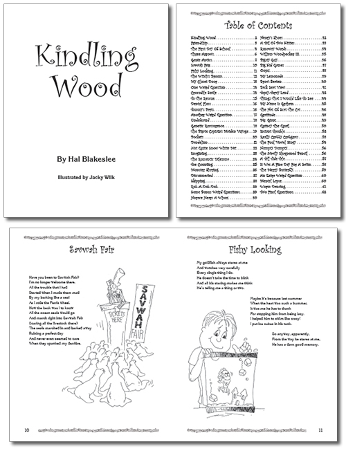 Typesetting and page layout design for Kindling Wood