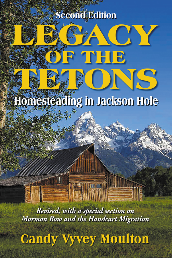Cover design for Legacy of the Tetons