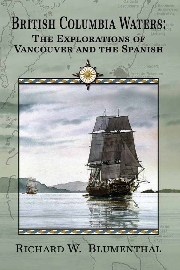 Cover design for British Columbia Waters