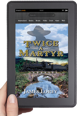 Cover Design for Twice A Martyr eBook