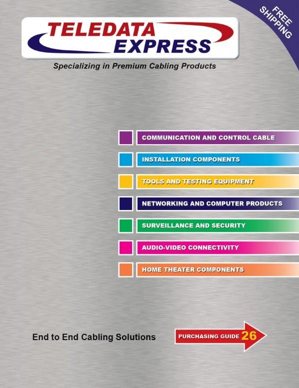 Teledata Express Catalog Cover Design