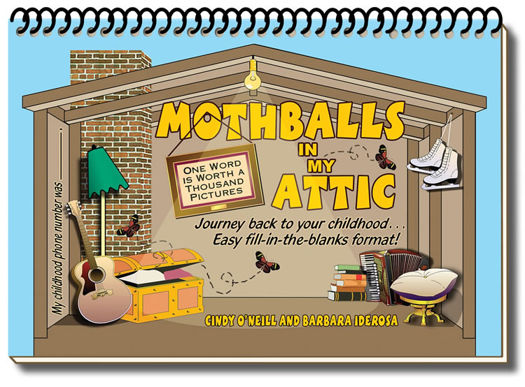 Cover design for Mothballs in My Attic