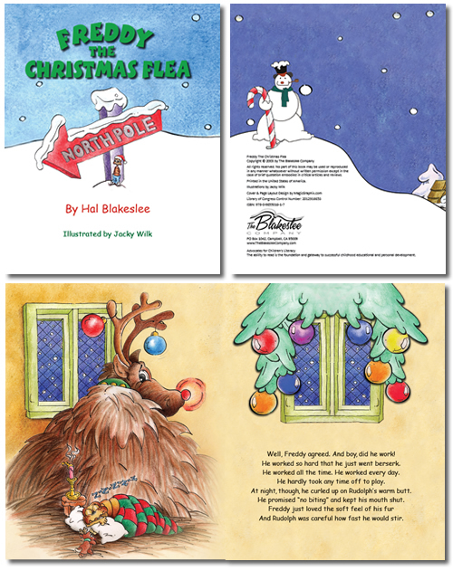 Typesetting and page layout design for Freddy the Christmas Flea