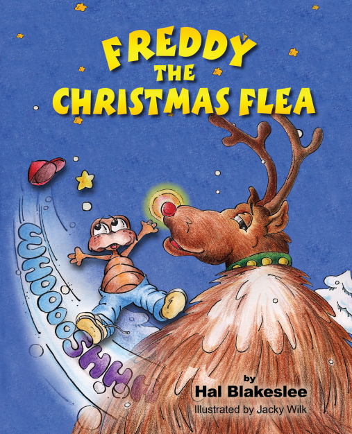 Book cover design for Freddy the Christmas Flea