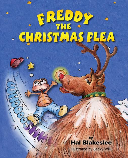 Book cover design for Freddy the Christmas Flea