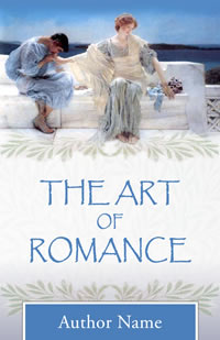 Samples of cover designs for a series of romance poetry books.
