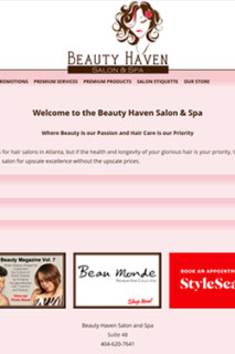 Beauty Salon & Spa Website Design
