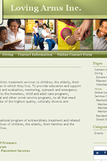 Youth Shelter Website Design