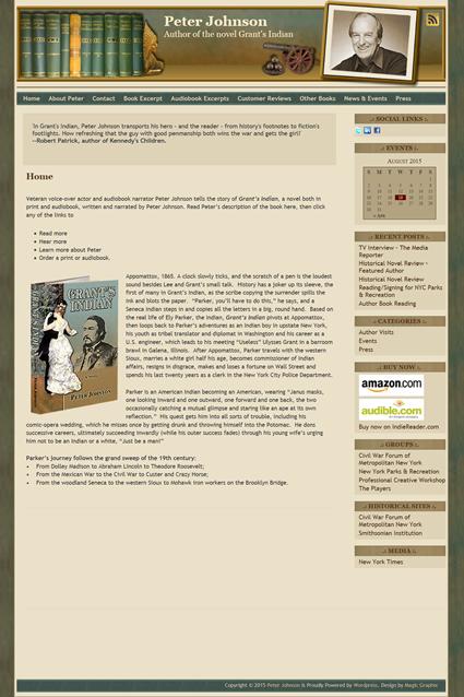 Website Design for author Peter Johnson