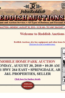 Auction Company Website Design