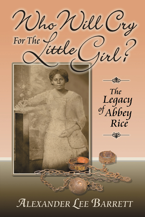 Cover design for Who Will Cry For The Little Girl