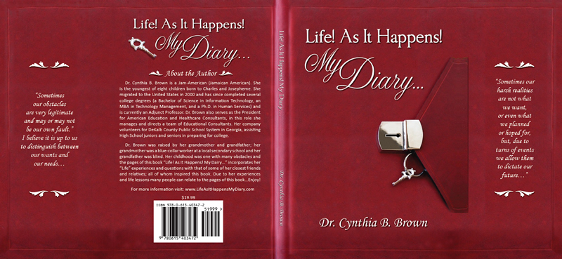 Dust jacket design for Life As It Happens! My Diary