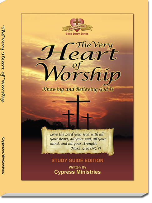 Cover designs for Workbook The Very Heart of Worship in the A Worships Heart Series of books