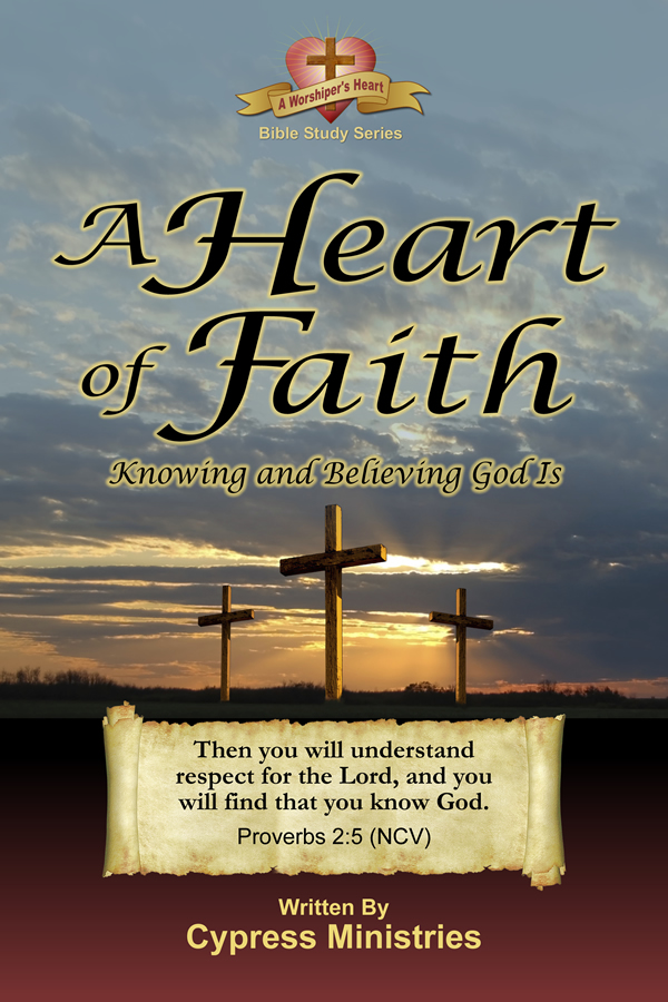 Cover designs for A Heart of Faith in the A Worships Heart Series of books