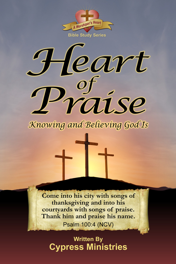 Cover designs for A Heart of Praise in the A Worships Heart Series of books