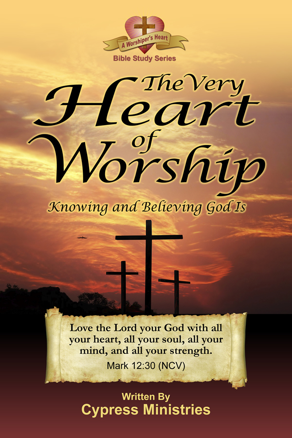 Cover designs for A Heart of Worship in the A Worships Heart Series of books