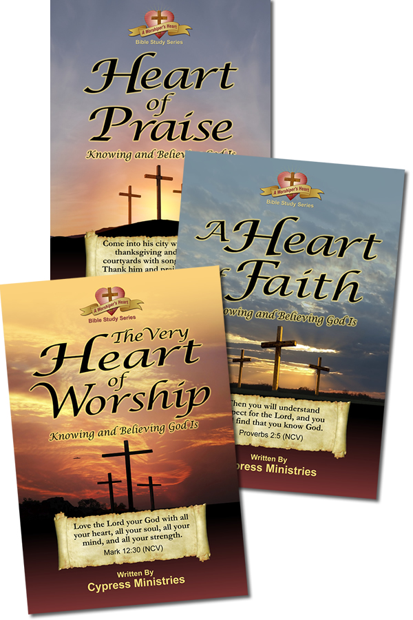 Cover designs for a A Worships Heart Series of books