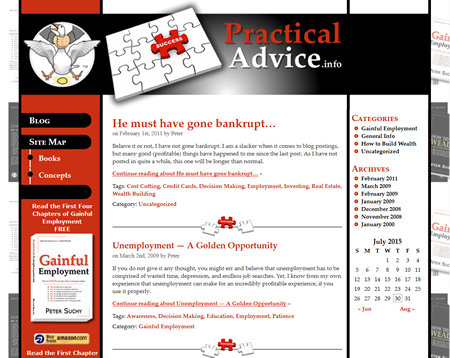 Website design for Practical Advice