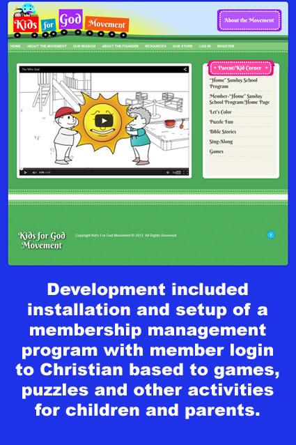 Kids For God Movement Website Design and