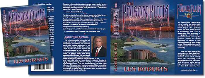 Complete Dust Jacket Design for Poison Plum