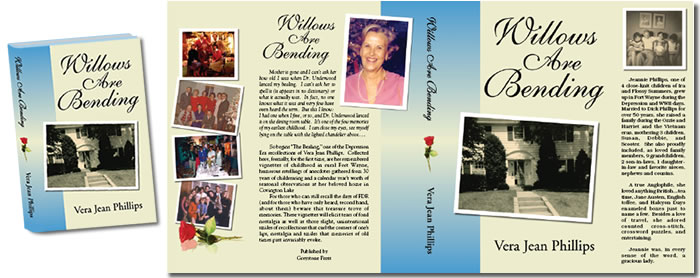 Complete Dust Jacket Design for Willows Are Bending