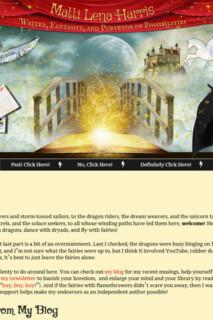 Fantasy Writer - Website Design