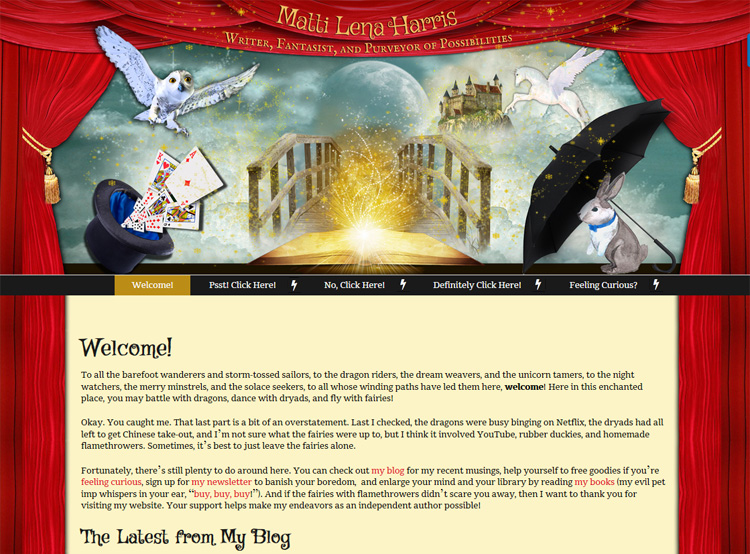 Matti Lena Harris - Website Design
